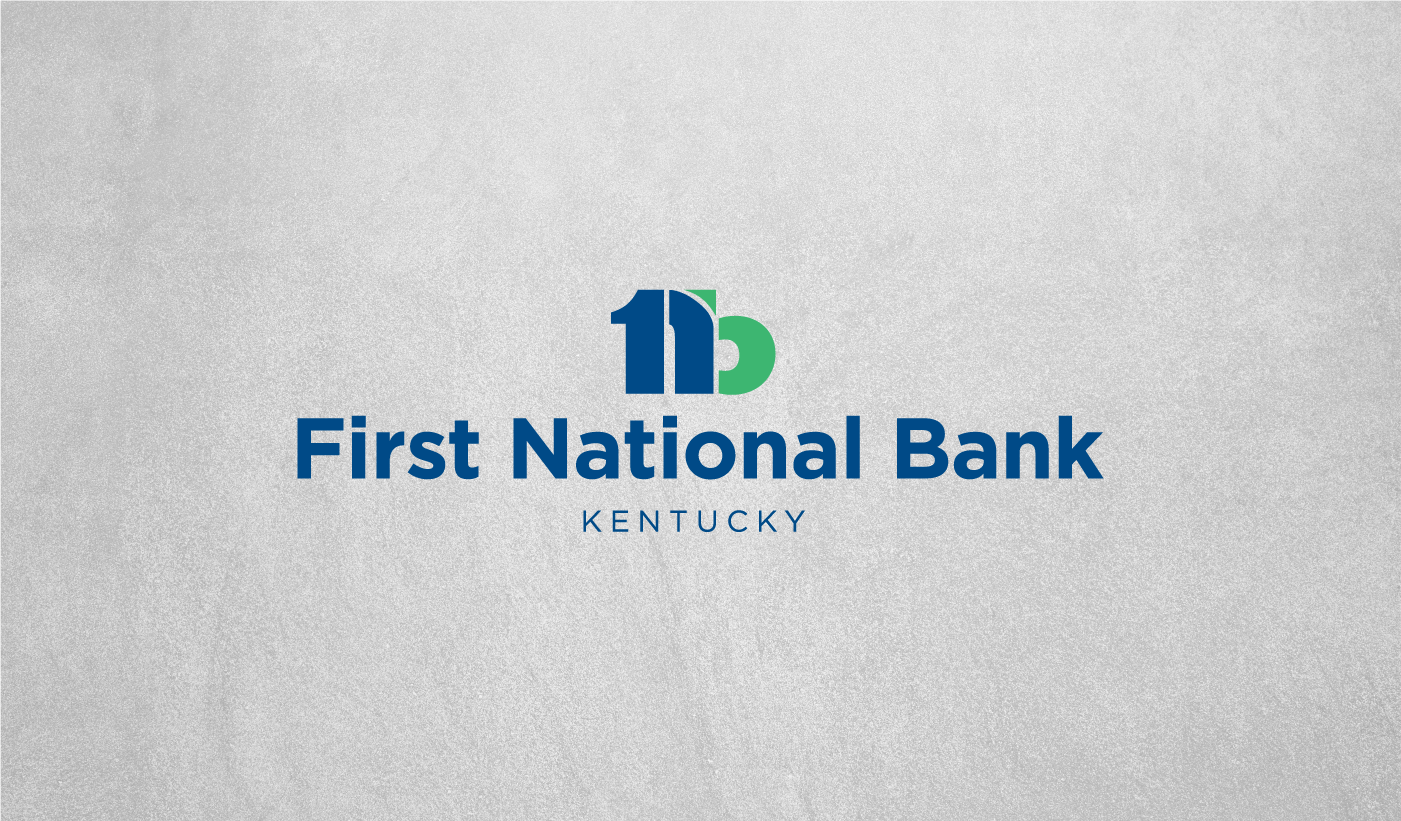 First National Bank Kentucky logo design