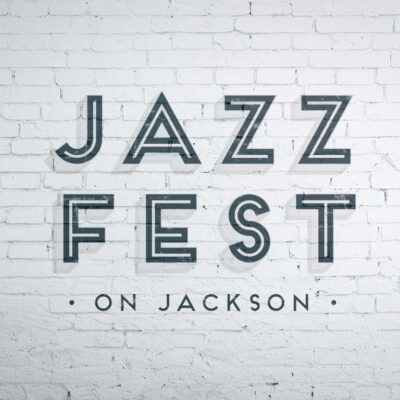 JazzFest on Jackson logo design